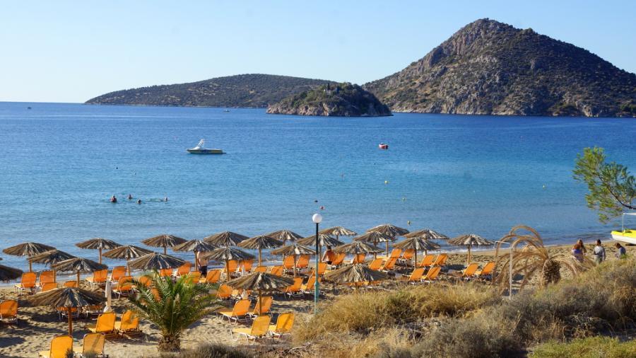 wczasy Grecja Tolo Centum Podróży Koliber plaża Tolo